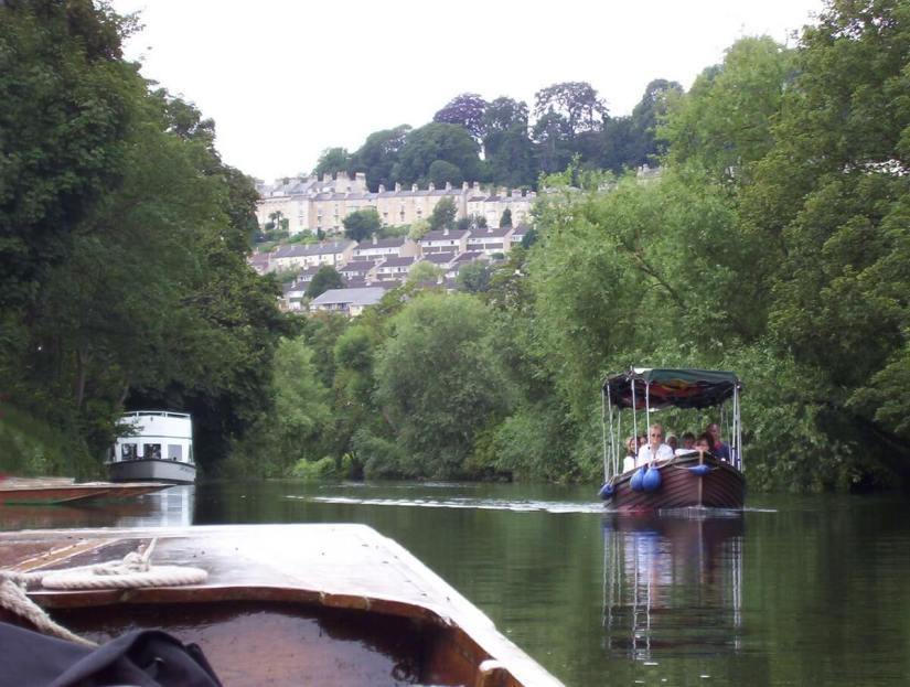 boats, avon river, bath, england