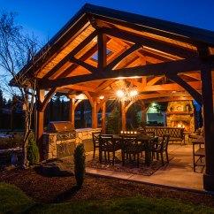 Outdoor Kitchen Pavilion Designs Kart Mt. Hood Timber Frame - Boring, Or Framework Plus