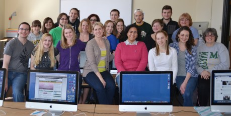 Group shot of 2012/2013 The Wood Word staff.