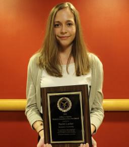 Junior Rachel Looker won the SCJ Art Barlow Student Journalist of the Year award.