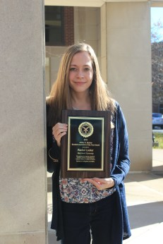Rachel Looker ('17), Editor in Chief of The Wood Word, was named SCJ's 2016 Student Journalist of the Year!