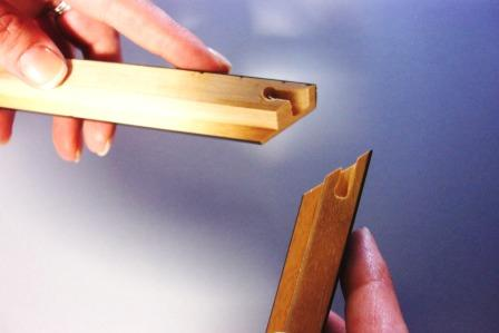 how to assemble wood picture frames