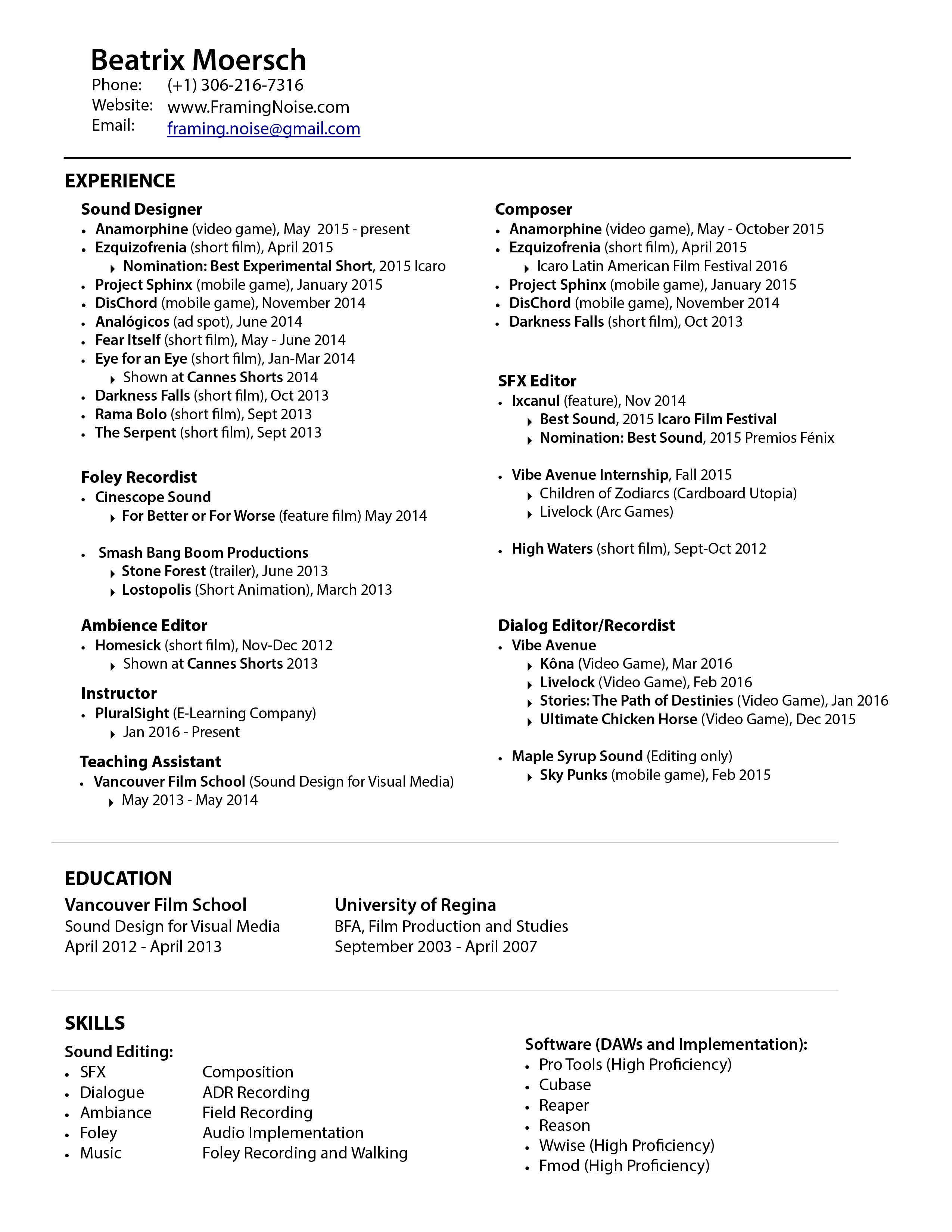 Framer Resume Examples | 38 Last Construction Resume Skills Nx ...