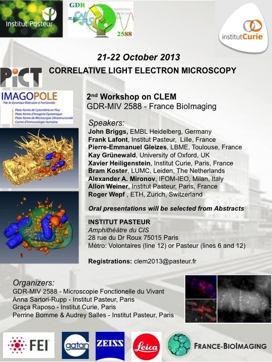 Flyer CLEM Workshop Pasteur Curie