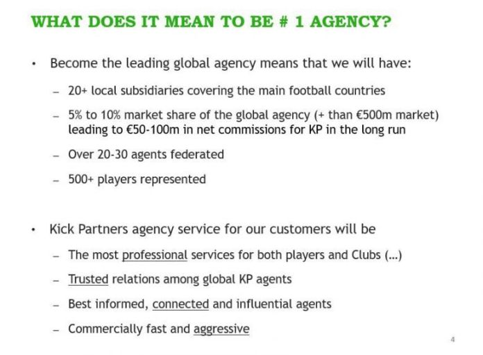 In this presentation, Kick Partners plans to earn 50 to 100 million euros in commissions. / © EIC