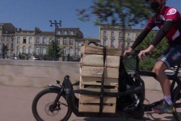 Les coursiers bordelais assurent plus de 300 livraisons sur l'ensemble de la métropole de Bordeaux.