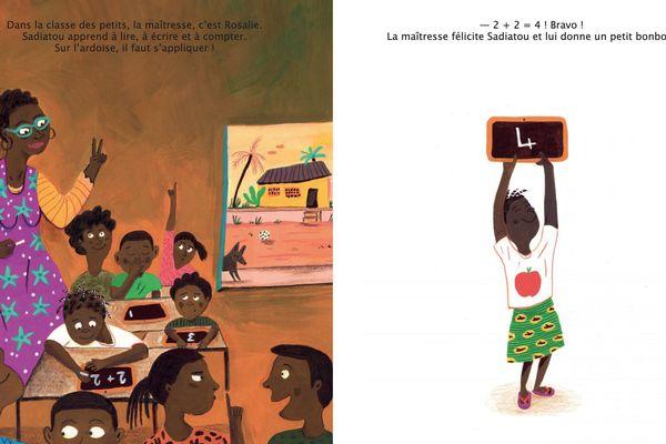 "Illustration Karine Maincent ©Mango Jeunesse / Album ""Sadiatou"""