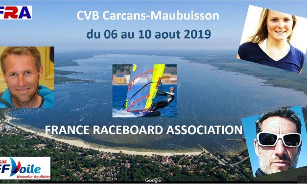 Stage de Pratique Raceboard FRA 6-9 août 2019 et MDR