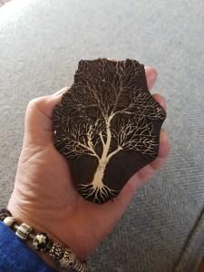 Hand-carved Sheesham tree block