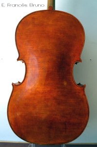 Cello Piccolo Amati 1600 back eduardo frances bruno luthier