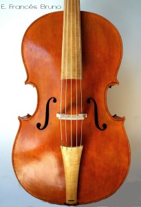 Cello Piccolo Amati 1600 front eduardo frances bruno luthier