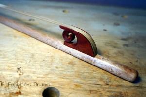Eduardo frances bruno luthier renaissance bass viol bow Veronese nut