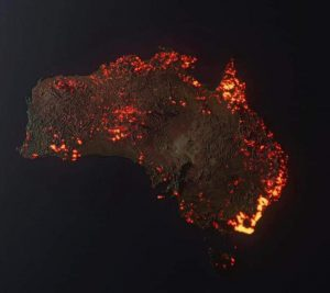 An animation of the bushfires since 5th December 2019