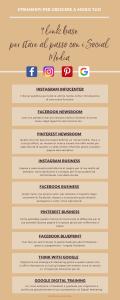9 link base per stare al passo con i Social Media-Leggi l'articolo di Francesca Cinus - Rivelatrice di Comunità