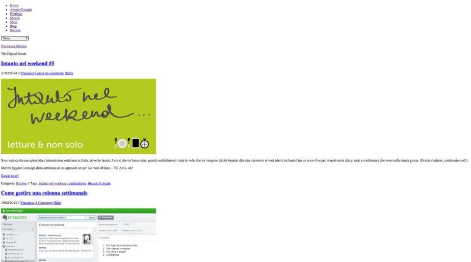 Il mio blog senza CSS