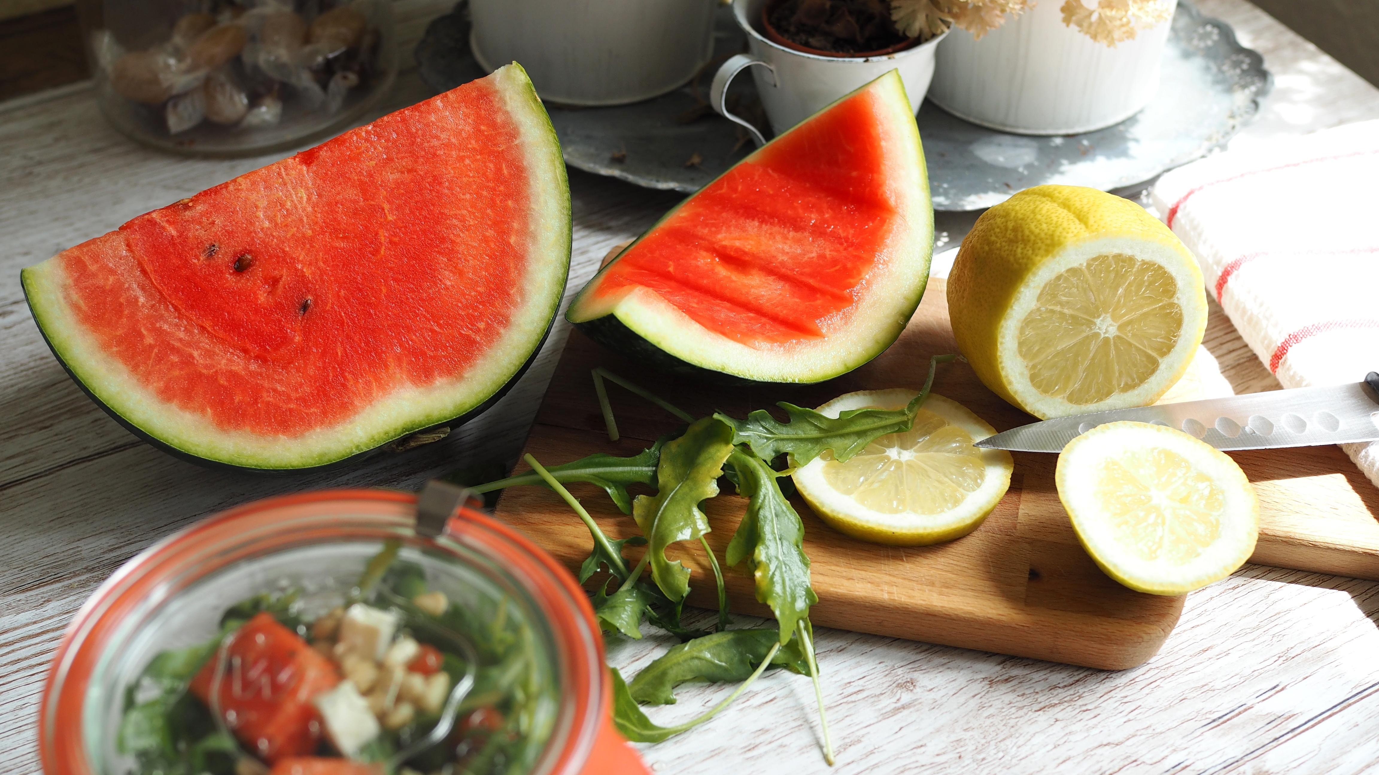Rucola Melonen Salat