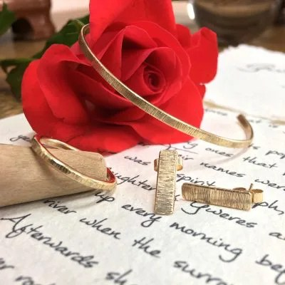 Gwels ha Twins, Grass and Wind recycled gold jewellery collection