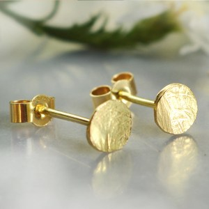 Sfaccettati Ethical Gold Studs