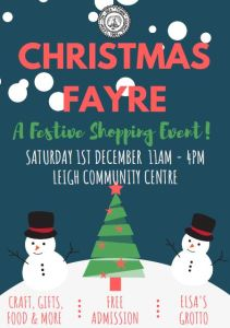 poster for Leigh Community Centre 2018 Christmas Fayre