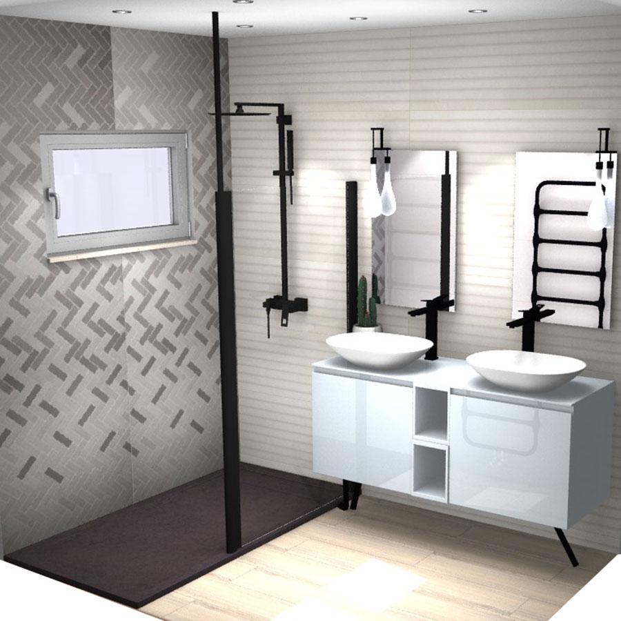 Projet De Salle De Bains En 3D Franceschini