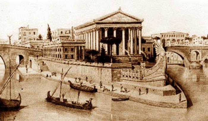 L'isola Tiberina tempio di Esculapio Roma