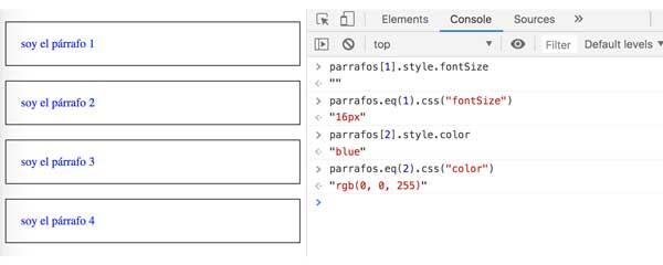 Consultar. modificar. insertar. eliminar el css de un nodo web con jQuery