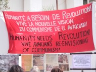 Why was I not surprised? I found Bob Avakian's people at the WSF 2013! 27 March 2013; Photo by Frances Hasso