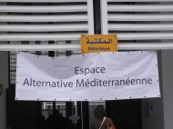 27 March 2013; this group had a huge presence at WSF in Tunis; photo by Frances Hasso
