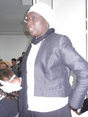 Senegalese feminist asks for attention especially to situation of African girls; 27 March 2013; photo by Frances Hasso