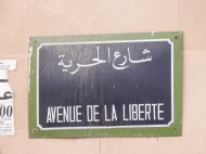 Tunis, I walked this avenue every day between my hotel and downtown.