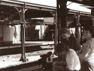 1984: Filming 'Shattered Windows' at Perth Train Station.