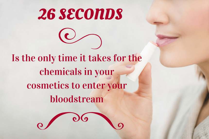 Only 26 seconds for the chemicals in your cosmetics to enter your bloodstream