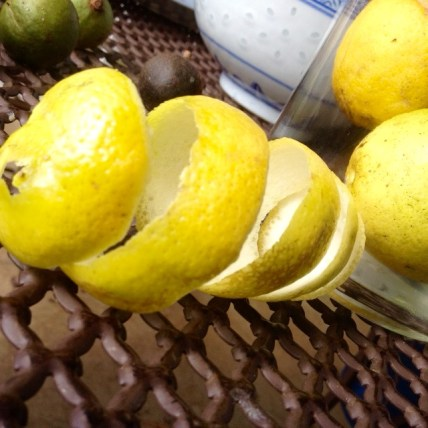 lemon peels maceration diy