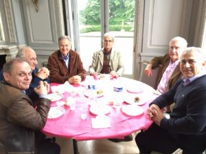 déjeuner du 5 juin 2016 au Château de la Chesnaie à Eaubonne à l'AG de l'AMFS