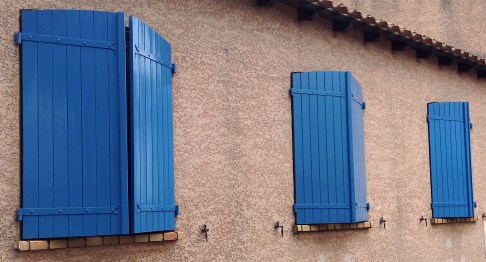 Shutters closed partway