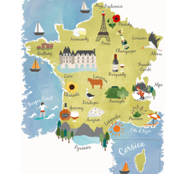 Interactive Map of France French Cities Regions & Departments