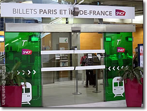 paris by train ticket office at charles de gaulle airport paris france