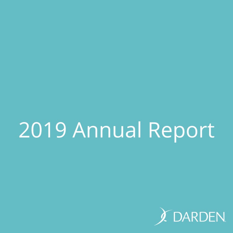 Darden Restaurants 2019 Annual Report with fourth quarter and full year results. Darden International and Franchising