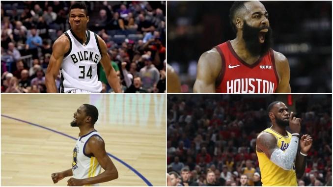 LeBron, KD, Giannis, Harden