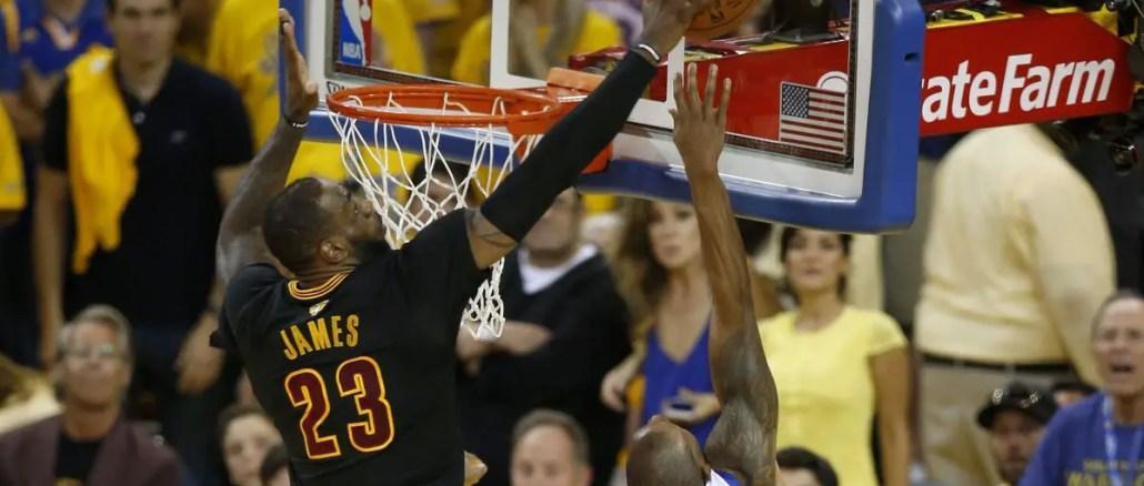 LeBron James block in game seven