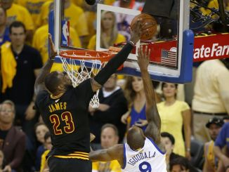 LeBron James block in game seven