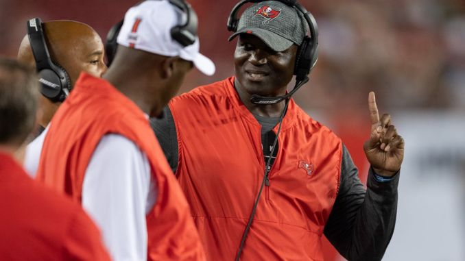 Todd Bowles on touchline