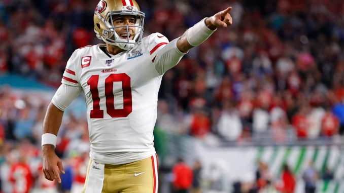 Jimmy Garoppolo points