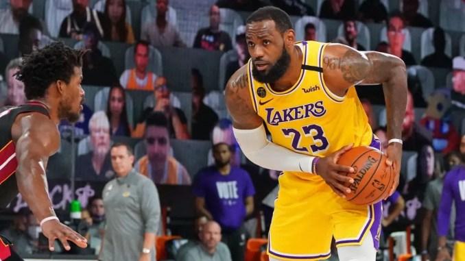 Jimmy Butler guards LeBron James