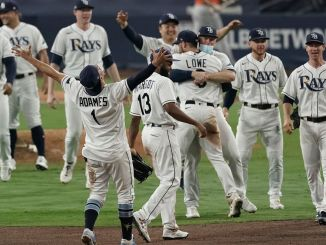 Tampa Bay Rays celebrate ALCS win