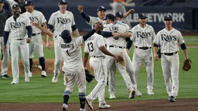 Tampa Bay Rays celebrate ALCS win