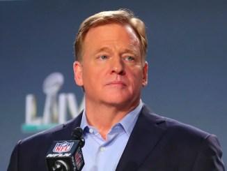 Roger Goodell at Super Bowl press conference