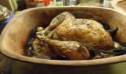 Kip met zuurkool uit de römertopf