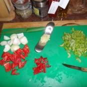 Pepers, knoflook, paprika en bleekselderij