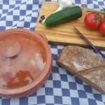 Ingrediënten voor de gazpacho
